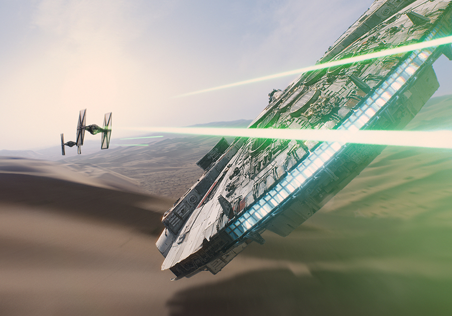 Millennium Falcon Force Awakens